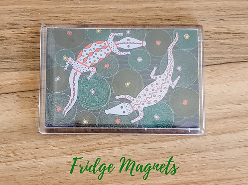 Crocodile Creek fridge magnet dot art style acrylic fridge magnet Gateway Art Sales Abu Dhabi Dubai UAE