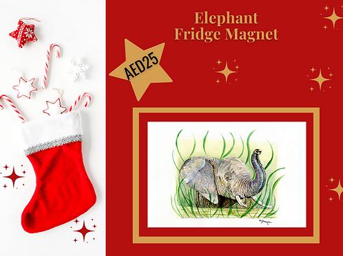 Elephant fridge magnet stocking filler Christmas 2020 wildlife animals Gateway Art Sales Abu Dhabi Dubai UAE acrylic