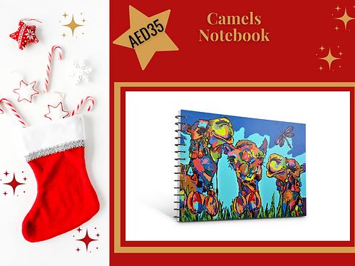 Camels notebook stocking filler Christmas 2020 present gift stationery Arabic art Gateway Art Sales Abu Dhabi Dubai UAE