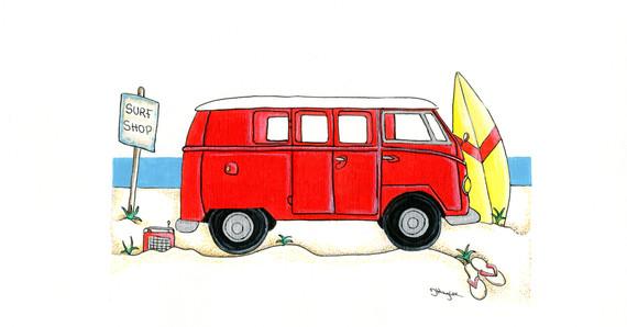 Camper Van in Red