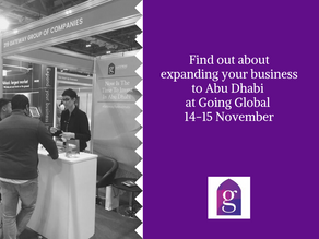Find out about expanding your business to Abu Dhabi at Going Global, 14-15 November