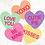 Conversation Hearts Valentines Day wreath Love hearts love you xoxo cutie pie be mine kiss Abu Dhabi Dubai Gateway Art Sales