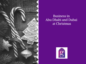 Business in Abu Dhabi at Christmas