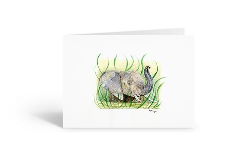 Elephant greeting card birthday card thank you card Gateway Art Sales Abu Dhabi Dubai UAE