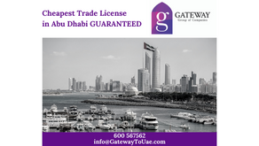 Cheapest Trade License in Abu Dhabi GUARANTEED