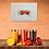 Thumbnail: Orange Camper Van MOUNTED PRINT (A4)