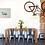 Green Caravan giclee print insitu picture artwork dining room table chairs Gateway Art Sales Abu Dhabi Dubai UAE