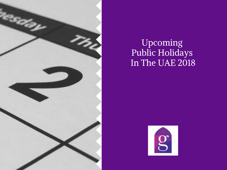 Upcoming Public Holidays in the UAE 2018
