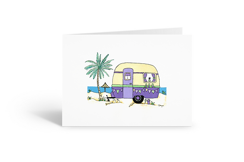 purple caravan greeting card birthday card thank you card Gateway Art Sales Abu Dhabi Dubai UAE