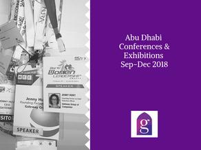 Abu Dhabi Conferences & Exhibitions Sep-Dec 2018