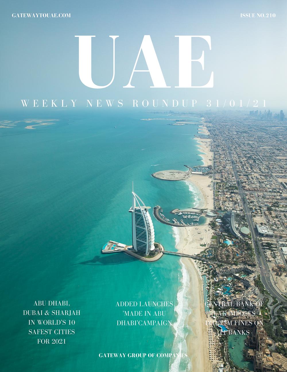 UAE business news headlines 31st January 2021 Issue 21 Gateway Group Of Companies Abu Dhabi Dubai weekly magazine company formation business setup local sponsor service agent visas