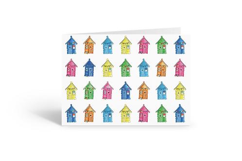 mini beach huts greeting card birthday card thank you card Gateway Art Sales Abu Dhabi Dubai UAE