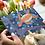 The Turtle greeting card insitu hand tulips birthday Gateway Art Sales Abu Dhabi Dubai UAE pointillism dotillism