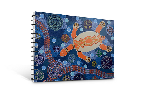 The Turtle notebook A5 size spiral bound 50 blank inner pages paper gifts stationery Gateway Art Sales Abu Dhabi Dubai UAE