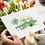 green caravan greeting card insitu flowers hands birthday card thank you card Gateway Art Sales Abu Dhabi Dubai UAE