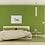 Green Caravan giclee print insitu artwork picture bedroom bed nightstands Gateway Art Sales Abu Dhabi Dubai UAE