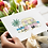 pink caravan greeting card insitu flowers hands birthday card thank you card Gateway Art Sales Abu Dhabi Dubai UAE