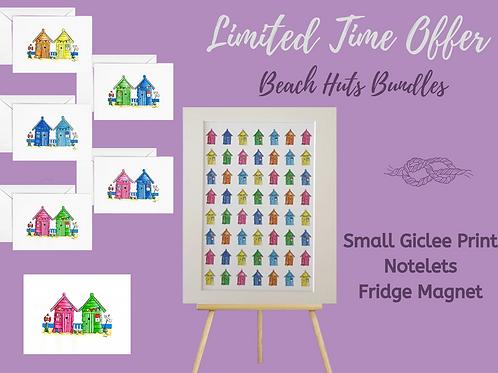 Beach huts houses notelets giclee print fridge magnet bundle offer decor writing Gateway Art Sales Abu Dhabi Dubai UAE