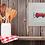Thumbnail: Red Camper Van MOUNTED PRINT (Square)
