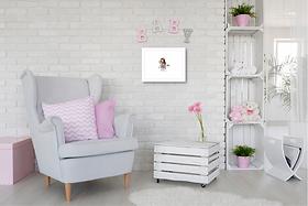 pink mermaid original painting artwork nursery girls room decor double mount for sale online in Abu Dhabi Al Ain Dubai UAE Gateway Art Sales LLC