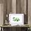 Green retro caravan picture insitu table desk home picture art Gateway Art Sales Abu Dhabi Dubai UAE