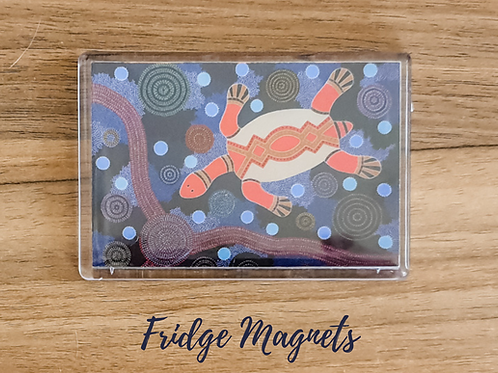 Turtle fridge magnet acrylic fridge magnet dot art pointillism gift Gateway Art Sales Abu Dhabi Dubai UAE