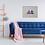 Pink & Blue Beach Huts Giclee print living room sofa ladder throw picture Gateway Art Sales Abu Dhabi Dubai UAE