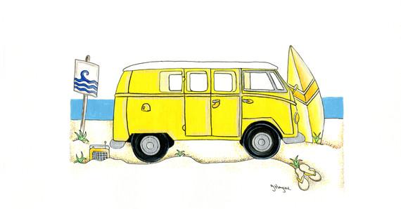 Camper Van in Yellow