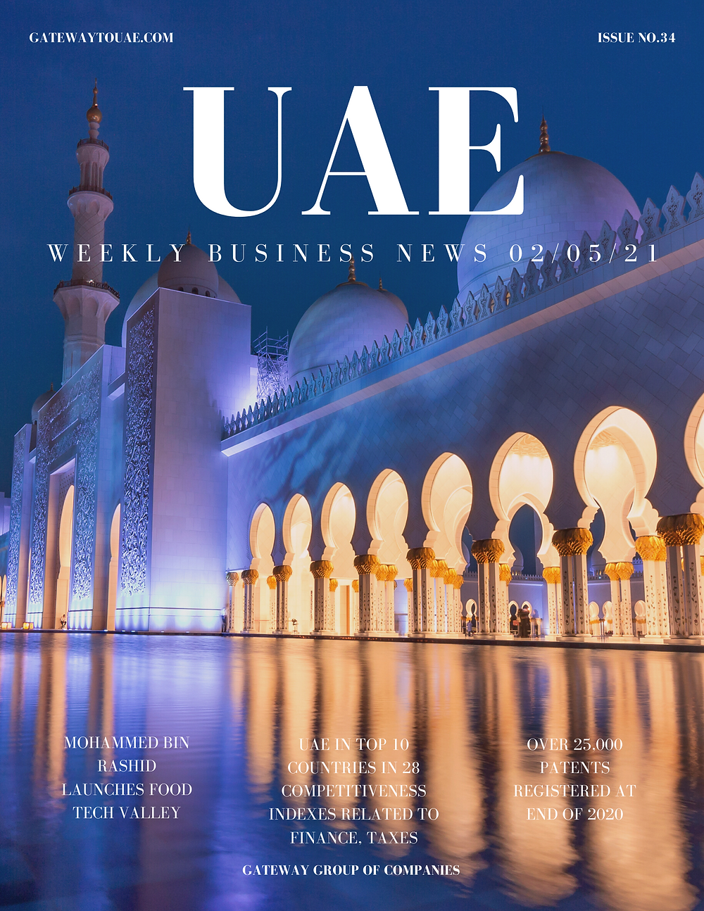 UAE weekly business news headlines 2nd May 2021 Issue 34 Gateway Group Of Companies Abu Dhabi Dubai weekly magazine company formation business setup local sponsor service agent visas company formation authority trade licence license