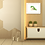 Lioness painting insitu room cabinet wall hexagon picture art Wildlife Collection Gateway Art Sales Abu Dhabi Dubai UAE