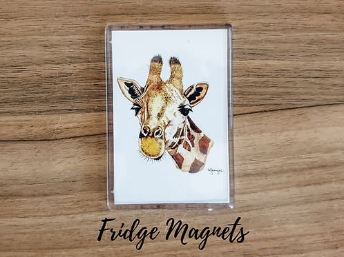 giraffe fridge magnet acrylic fridge magnet wildlife animal gift Gateway Art Sales Abu Dhabi Dubai UAE