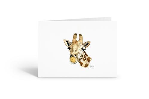 giraffe greeting card birthday card thank you card Gateway Art Sales Abu Dhabi Dubai UAE