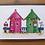 fridge magnet beach huts houses pink green acrylic gift Gateway Art Sales Abu Dhabi Dubai UAE