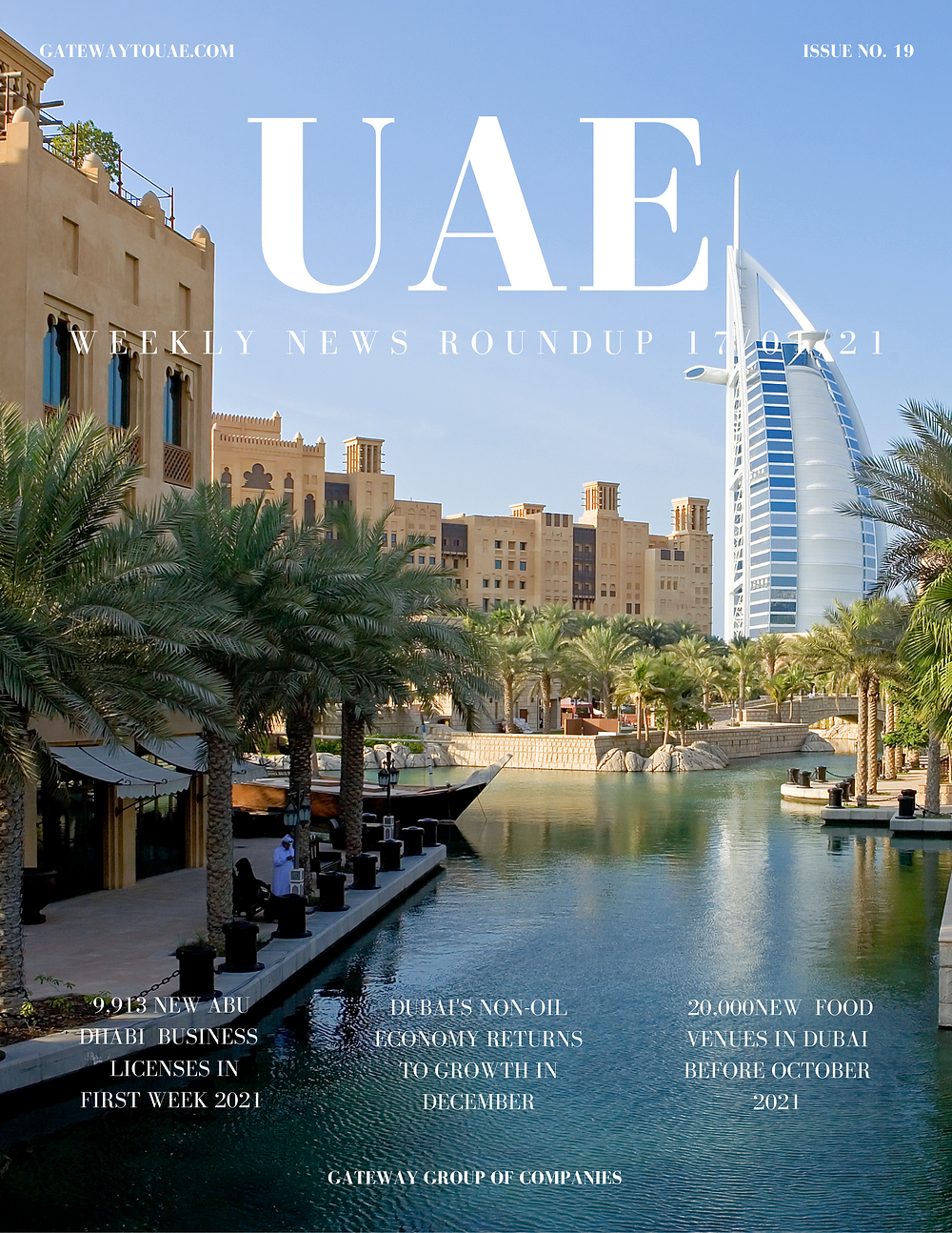 UAE business news headlines 17th January 2021 Issue 19 Gateway Group Of Companies Abu Dhabi Dubai