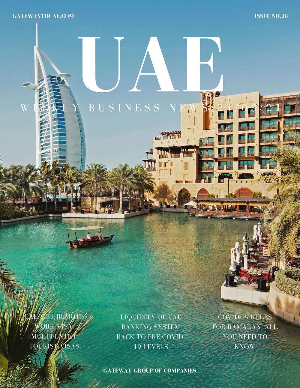 UAE weekly business news headlines 21st March 2021 Issue 28 Gateway Group Of Companies Abu Dhabi Dubai weekly magazine company formation business setup local sponsor service agent visas company formation authority