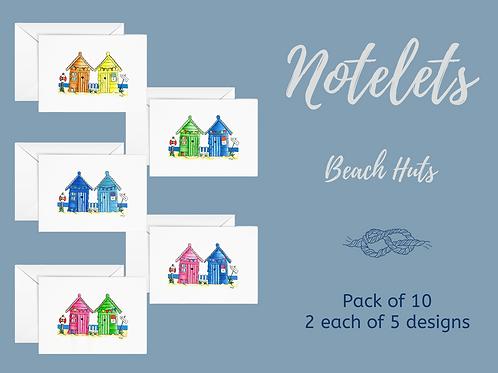notelets gift set beach huts beach houses envelopes writing notes Gateway Art Sales Abu Dhabi Dubai UAE
