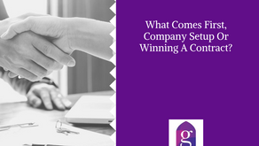 What Comes First, Company Setup Or Winning A Contract?