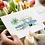 blue caravan greeting card insitu flowers hands birthday card thank you card notecard Gateway Art Sales Abu Dhabi Dubai UAE
