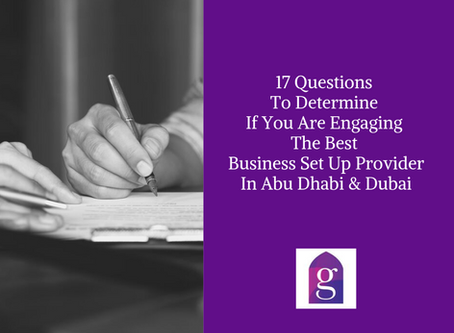 17 Questions To Determine If You Are Engaging The Best Abu Dhabi Business Set Up Provider