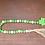 Green & Natural wood bead garland jute tassel St Patricks Day decor gifts Abu Dhabi Dubai Al Ain Gateway Art Sales