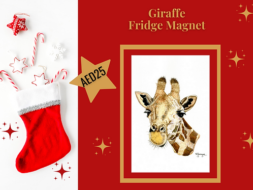 Giraffe fridge magnet stocking filler Christmas 2020 acrylic wildlife animal Gateway Art Sales Abu Dhabi Dubai UAE