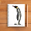 Penguin notebook A5 spiral bound 50 blank inner pages portrait Gateway Art Sales Abu Dhabi Dubai UAE