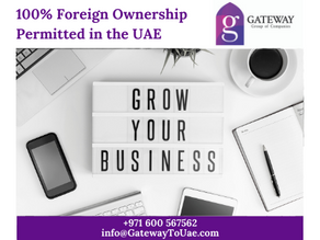 100% Foreign Ownership Permitted in the UAE