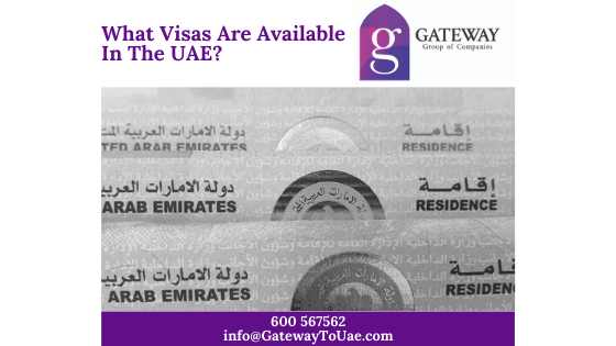 What Visas Are Available In The Uae