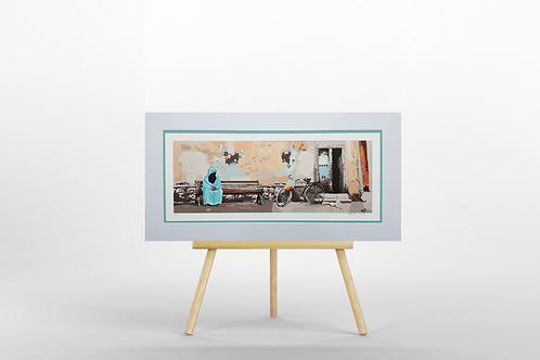Arabic Street Scene giclee print limited edition artwork picture Arabia culture gift Gateway Art Sales Abu Dhabi Dubai UAE