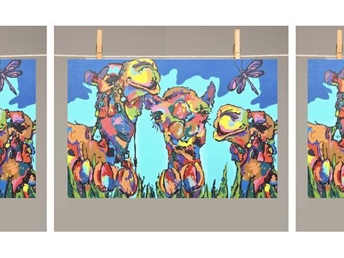 TEA TOWEL Camels