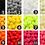 Pom poms balls colours to choose rainbow custom name hoops filled letters shapes Gateway Art Sales Abu Dhabi Dubai Al Ain