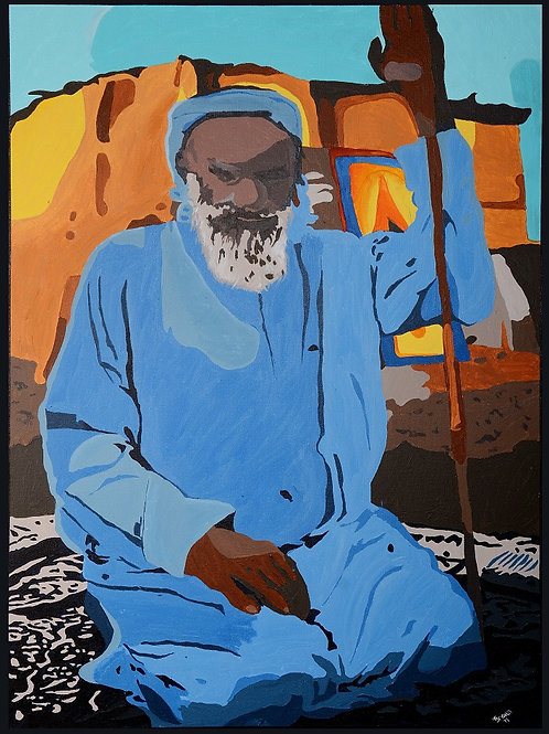 The Bedouin abstract original painting acrylics on canvas picture Gateway Art Sales Abu Dhabi Dubai UAE