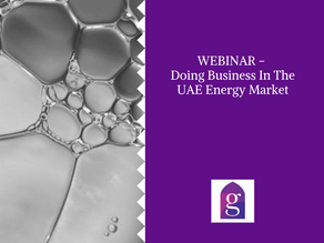 WEBINAR - Doing Business In The UAE Energy Market