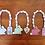 Easter bunny wood bead garland hand painted mint lavender pink decor tiered tray Abu Dhabi Al Ain Dubai Gateway Art Sales LLC